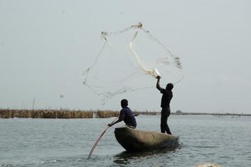 Benin, imbarcazione sul Lago Nokoué