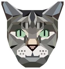 kubistisches Katzengesicht