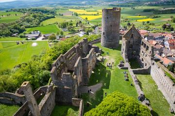 Burg Münzenberg von oben
