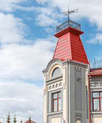 Building with historical architecture in the center of Ufa city