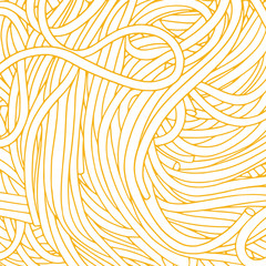 Hand drawn spaghetti vector background