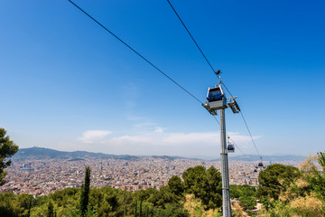 Cableway from Barcelona to Montjuic - Spain