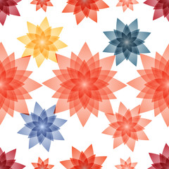Seamless pattern background for textiles. Multicolored abstract vector illustration. Floral Wallpaper.