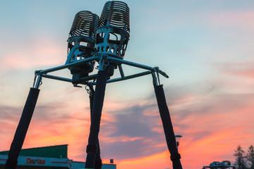 Foto op Aluminium Luchtsport Element of Hot Air Balloon Set