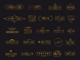 Modern golden luxury emblems for shopping tag