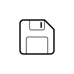 Basic Outline Diskette Icon