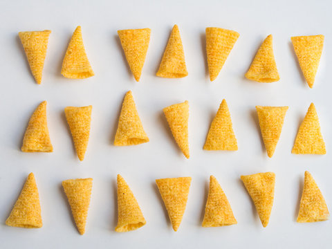 Corn cones pattern on white background