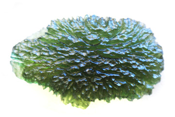 moldavite mineral isolated