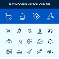 Modern, simple vector icon set with medical, lawyer, water, photography, cycle, courthouse, shuttle, shipping, faucet, buy, file, market, tag, wheel, ambulance, emergency, rocket, chart, graph icons