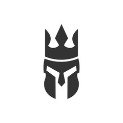 Helmet of Knight logo. Armor icon. Warrior symbol. Vector eps 08.