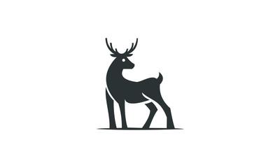 black deer ilustration