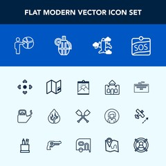 Modern, simple vector icon set with button, work, presentation, aircraft, blank, businessman, tower, sign, label, computer, building, steam, kitchen, meeting, hot, canoe, sos, travel, castle icons