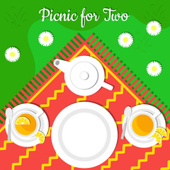 Picnic for two, set for tea