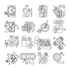 Bakery and Breakfast Icon set,Food Flat Icon Design,Bakery Symbol