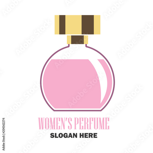 man perfume / fragrance logo with text space for your slogan / tag