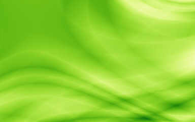 Wavy green eco abstract illustration background
