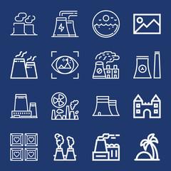 Set of 16 landscape outline icons