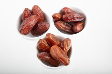 Three different kind of Dried dates (fruits of date palm)