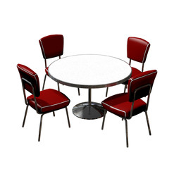 Diner Table Chairs Isolated