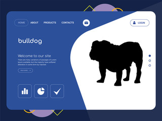bulldog Landing page website template design