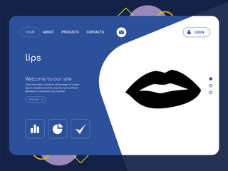 lips Landing page website template design