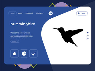 hummingbird Landing page website template design