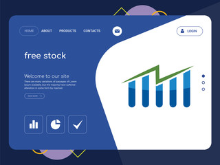 free stock Landing page website template design
