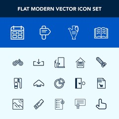 Modern, simple vector icon set with health, hygiene, day, fuel, extreme, pie, bomb, cart, sign, web, presentation, time, wheel, business, schedule, book, power, paper, bicycle, cycle, parachute icons
