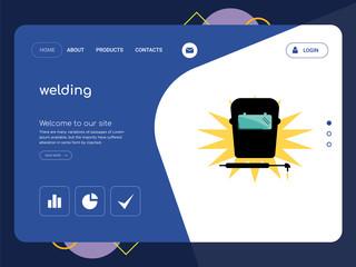 welding Landing page website template design