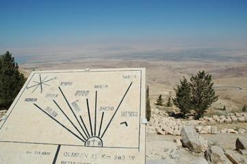 Mappa su Monte Nebo, Giordania