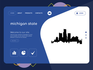 michigan state Landing page website template design