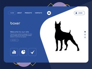 boxer Landing page website template design