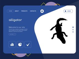 alligator Landing page website template design