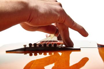 Man playing acoustic guitar music