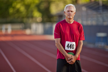 Portrait of an athletic senior man.