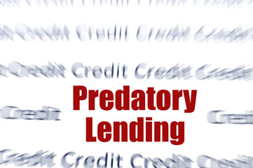 Predatory Lending concept