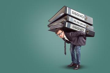 Belastet mit dem DSGVO Gesetz