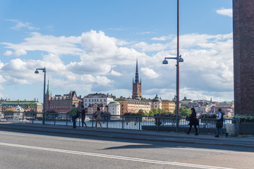 Cityscape of Gamla stan, the old town in Stockholm, Sweden