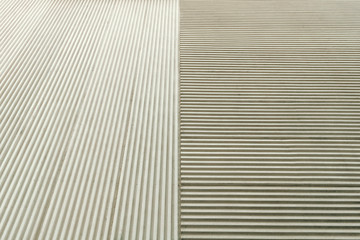 Abstract architecture. Close up of a building facade.