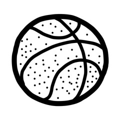 basket ball / cartoon vector and illustration, black and white, hand drawn, sketch style, isolated on white background.