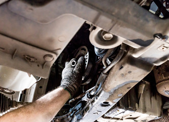 car service working engine repair and leak fuel system