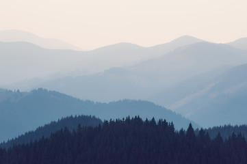 Blue mountains silhouettes