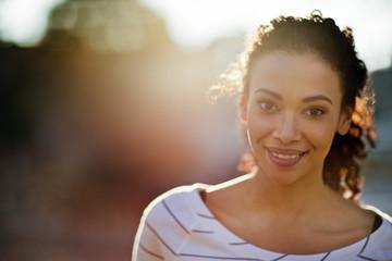 Portrait of happy mid-adult woman.