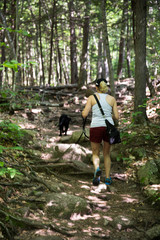 Hiking with dog in New Hampshire
