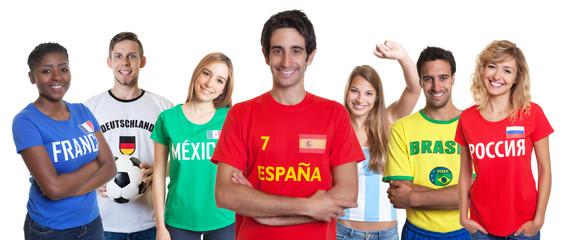 Spanischer Fussball Fan und andere Fans