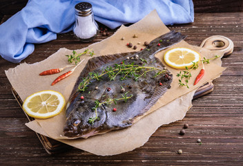 Cooking flounder fish