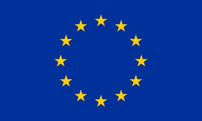 European Union flag. EU symbol with official colors. Vector illustration.