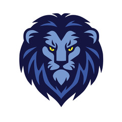 Classic Lion Head Logo Vector Illustration Design Template