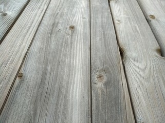Old wooden planks in perspective. Wooden table. Background for advertisting.