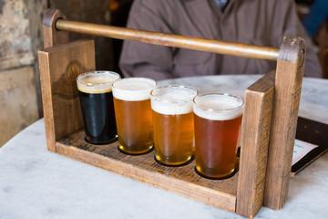 Craft Beer Sampler Four Glasses